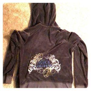 Juice Couture velour zip up sweatshirt